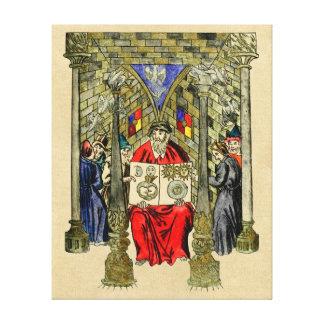 Middeleeuws Boek van Alchimie Canvas Afdrukken