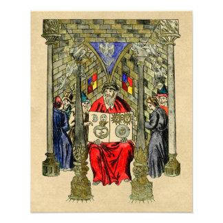 Middeleeuws Boek van Alchimie Foto Afdruk