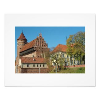 Middeleeuws Kasteel III van Olsztyn - Foto Foto Afdruk