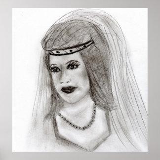 Middeleeuwse Bruid Poster