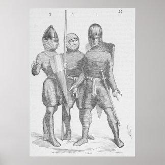 Middeleeuwse Militairen Poster