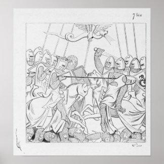 Middeleeuwse Slag Poster