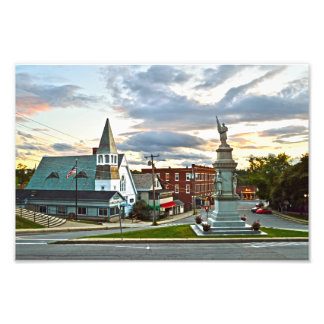 Middlebury, Vermont, au coucher du soleil Impression Photo