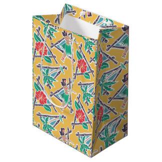 Miel de danse polynésienne - jaune - sac de cadeau