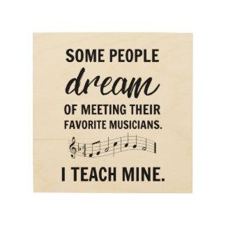 Mijn Favoriet Teken van Musici Hout Afdruk