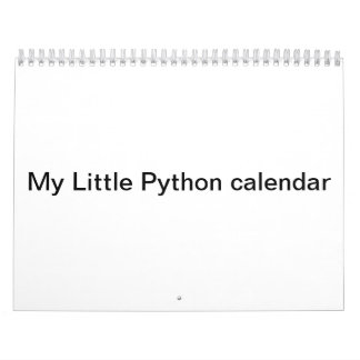 Mijn Kleine kalender van de Python