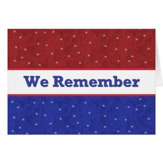 Militaire - Jour du Souvenir Carte