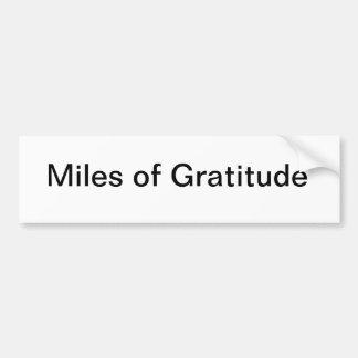 Milles d'adhésif pour pare-chocs de gratitude autocollant de voiture