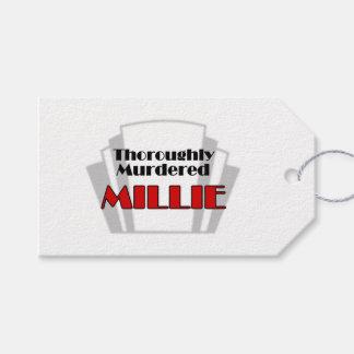 Millie complètement assassiné étiquettes-cadeau
