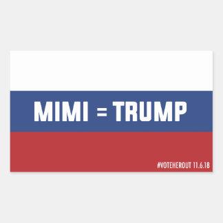 Mimi = autocollant russe de drapeau d'atout