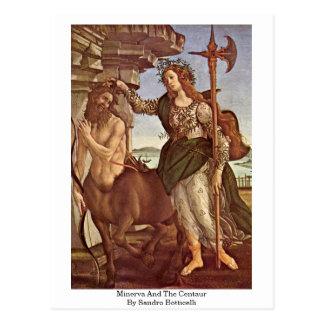 Minerva et le centaure par Sandro Botticelli Carte Postale