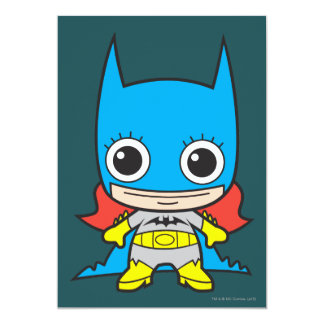 Mini Batgirl 12,7x17,8 Uitnodiging Kaart