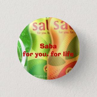mini bouton de saba badge rond 2,50 cm