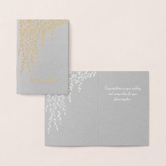 Mini carte de mariage de saules