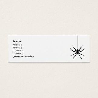 Mini Carte De Visite Araignée - maigre