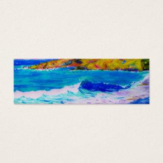 Mini Carte De Visite art d'éclaboussure de plage de Laguna