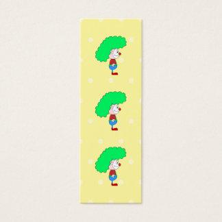 Mini Carte De Visite Bande dessinée colorée de clown