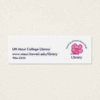 Mini Carte De Visite Bibliothèque universitaire de Maui
