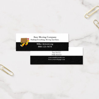Mini Carte De Visite Boîte de moteur d'entreprise de déménagement