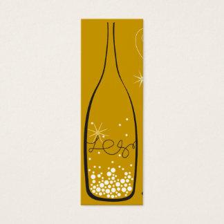 Mini Carte De Visite Champagne bouillonne étiquette de cadeau de Merci