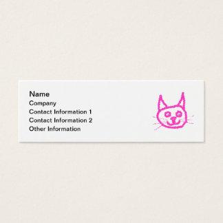 Mini Carte De Visite Chat rose lumineux