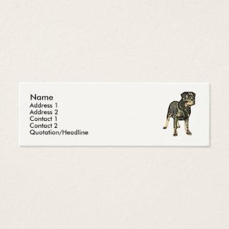 Mini Carte De Visite Chien de rottweiler