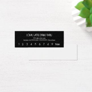 Mini Carte De Visite Commande de fidélité de Latte de fidélité mini