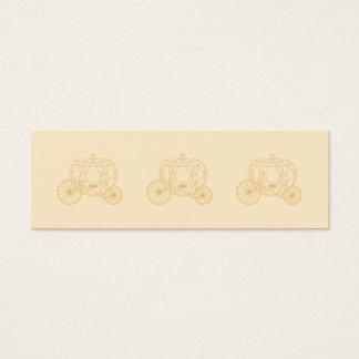 Mini Carte De Visite Conception de chariot de conte de fées dans des
