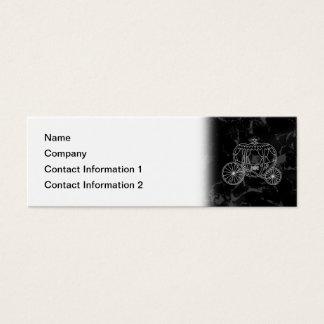 Mini Carte De Visite Conception de chariot de conte de fées dans noir