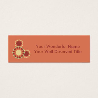 Mini Carte De Visite Conception de fleur