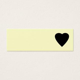 Mini Carte De Visite Conception noire et crème de coeur d'amour