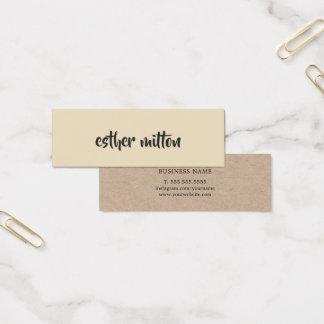 Mini Carte De Visite Consultant en matière beige moderne élégant de