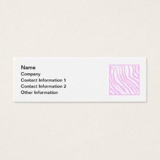 Mini Carte De Visite Copie rose de zèbre, modèle animal