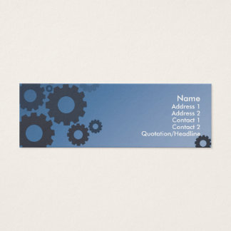 Mini Carte De Visite Dents bleues - maigres