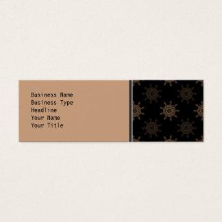 Mini Carte De Visite Dents de Brown. La fractale entoure le modèle