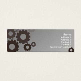 Mini Carte De Visite Dents grises - maigres