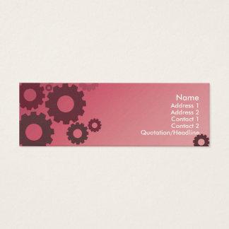 Mini Carte De Visite Dents roses - maigres