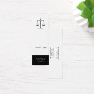 Mini Carte De Visite Échelles de justice