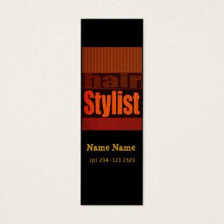 Mini Carte De Visite Esthéticien moderne de typographie de coiffeur