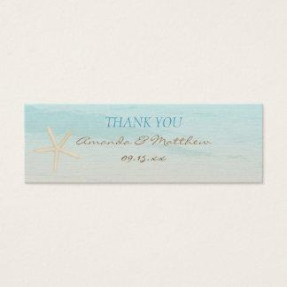 Mini Carte De Visite Étiquette de cadeau de mariage de mariage de plage