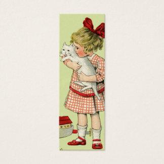 Mini Carte De Visite Étiquette douce vintage de cadeau de fille ou note