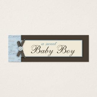 Mini Carte De Visite Étiquette maigre BLEUE de cadeau d'orteils