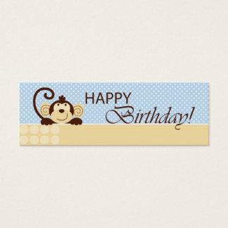 Mini Carte De Visite Étiquette maigre de cadeau de singe de mod