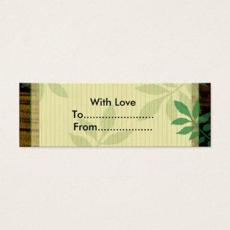 Mini Carte De Visite Étiquettes attrayantes de cadeau de feuilles