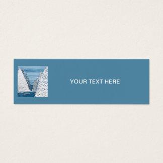 Mini Carte De Visite Étiquettes d'arbres blancs d'hiver d'Aqua mini