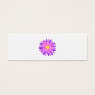 Mini Carte De Visite Fleur colorée lumineuse. Rose et pourpre