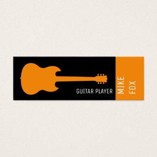 Mini Carte De Visite guitare de professionnel de professeur de musique