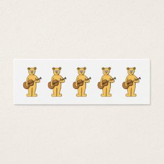 Mini Carte De Visite Guitare jouant l'ours