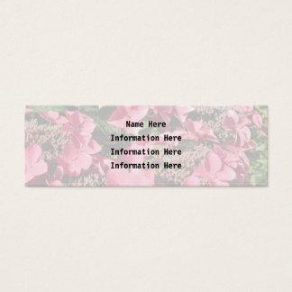 Mini Carte De Visite Hortensia. Fleurs roses