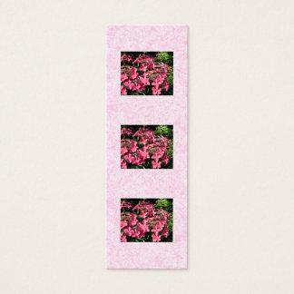 Mini Carte De Visite Hortensias. Fleurs assez roses